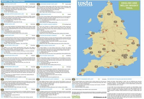 English Welsh Whisky map The Nightcap