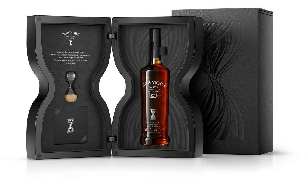 Bowmore 27 Timeless Series and its fancy box