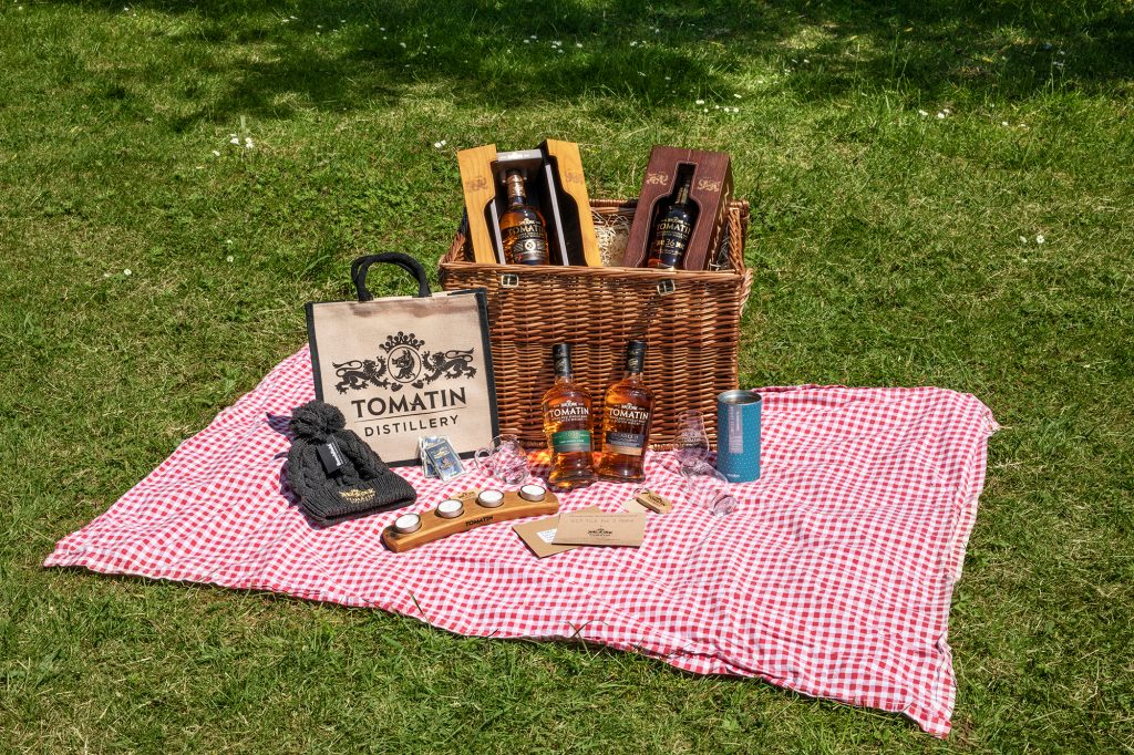 A hamper of Tomatin Whisky