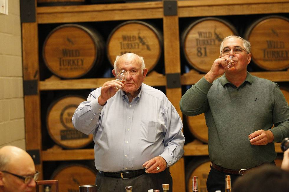 Jimmy and Eddie Russell at Distillery