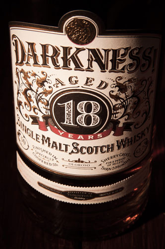 Darkness! label close up