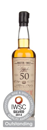 Master of Malt 50 Year Old Speyside IWSC 2014 Silver Outstanding