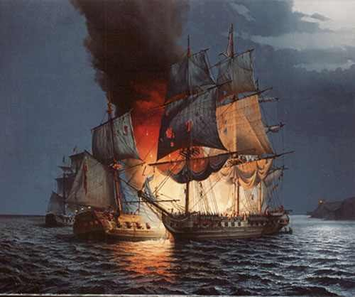 Battle of Flamborough Head Bonhomme Richard Serapis