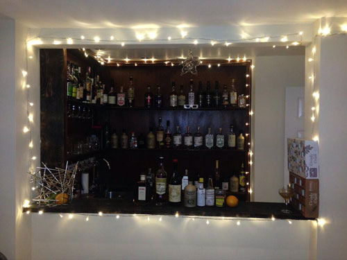 Master of Cocktails Christmassified bar