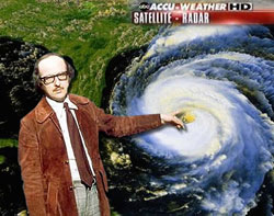 Michael Fish predicts the weather