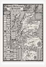 Map of the Whisky Distilleries of Scotland