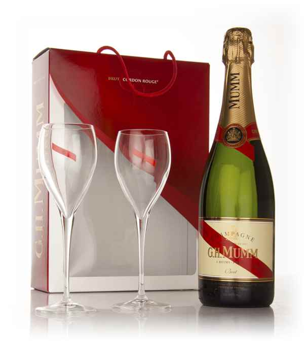 Mumm Cordon Rouge Gift Pack with 2x Glasses