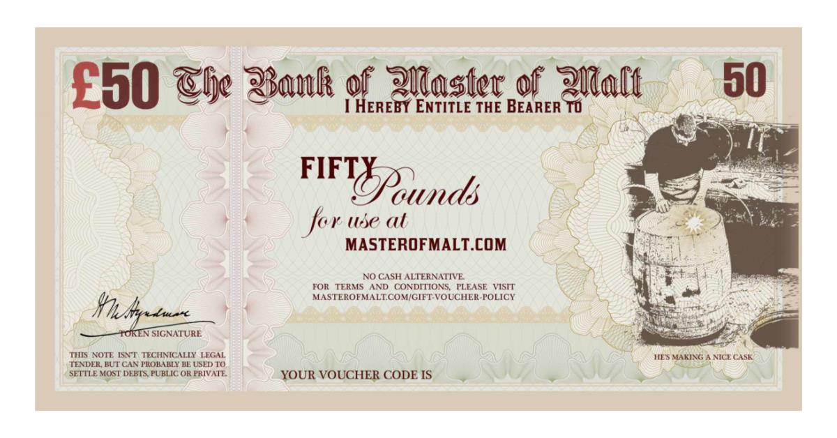 Gift vouchers master of malt stuff negle Image collections