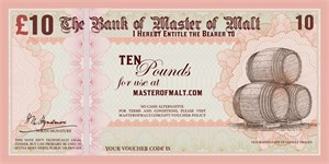 £10 Master of Malt Gift Voucher