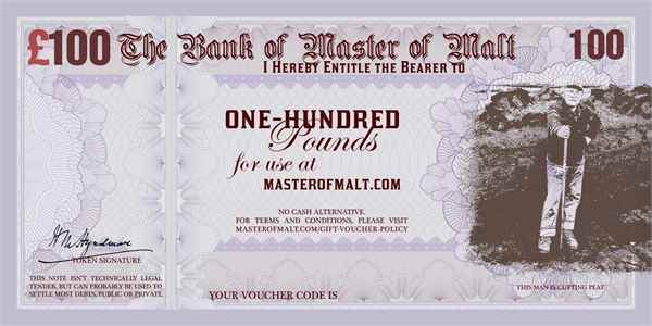 £100 Master of Malt Gift Voucher
