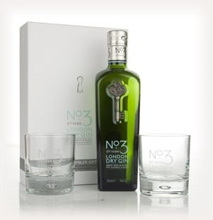 No.3 Gin with 2 Glasses Gift Pack