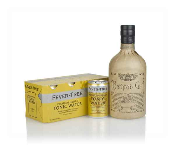 Bathtub Gin and Fever-Tree Indian Tonic Water Fridge Pack Bundle