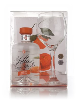 Filliers' Dry Gin 28 Tangerine 2014 Edition and Glass Set
