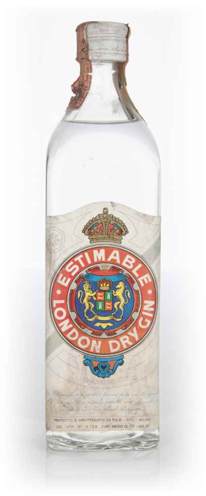 Estimable London Dry Gin - 1970s