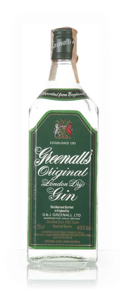 Greenall's Original London Dry Gin - 1980s