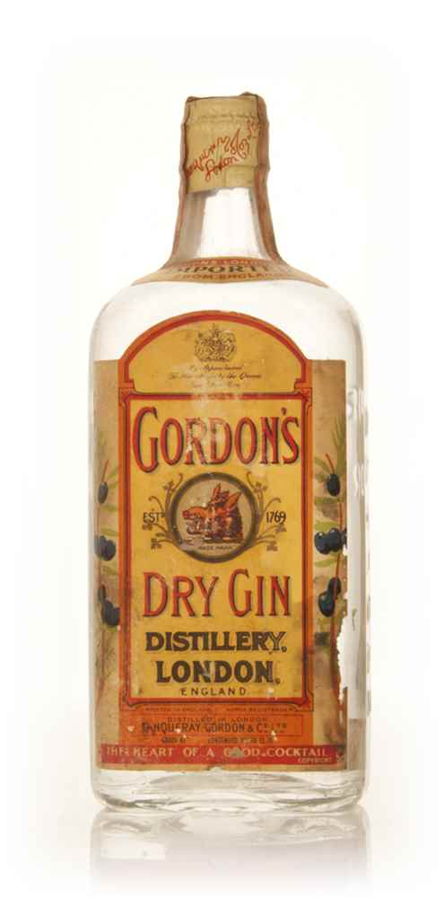 Gordon's London Dry Gin - 1949-59