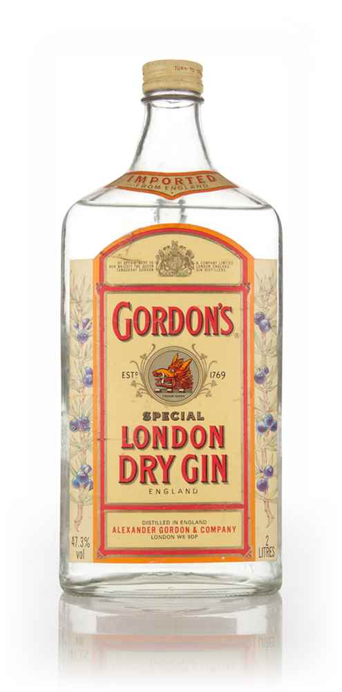 Gordon's London Dry Gin 2l - 1980s