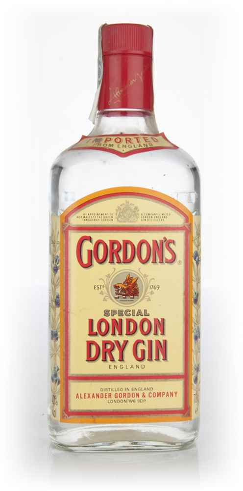 Gordon's Special London Dry Gin - early 1990s