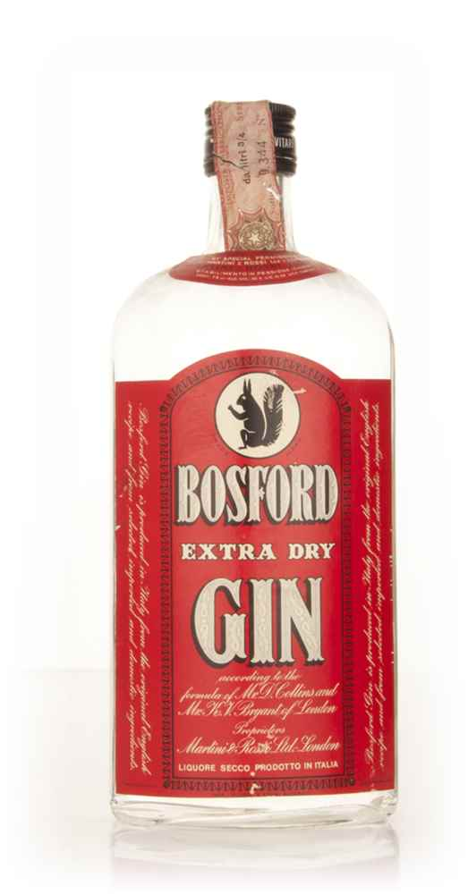 Martini & Rossi Bosford Extra Dry Gin - 1970s