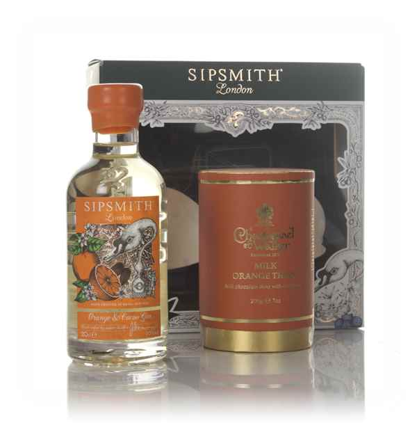 Sipsmith Orange & Cacao Gin Gift Pack with Charbonnel et Walker Thins