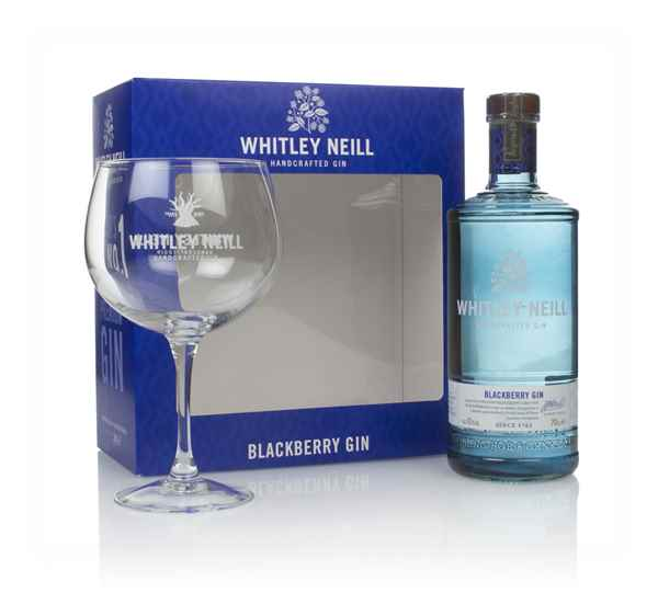 Whitley Neill Blackberry Gin Gift Pack with Glass