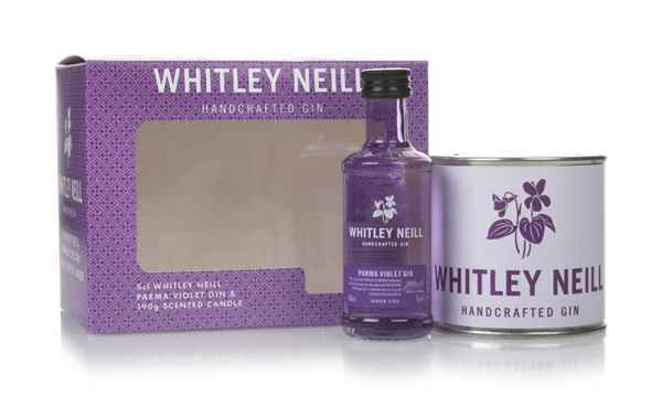 Whitley Neill Parma Violet Gin Gift Pack with Scented Candle
