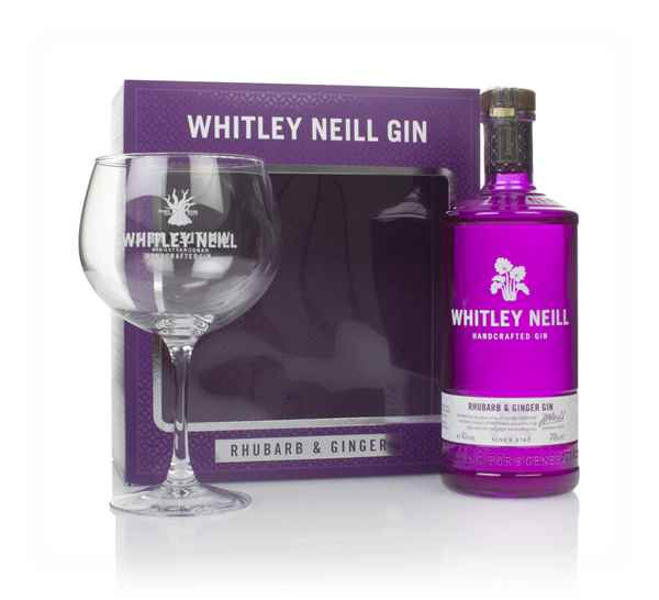 Whitley Neill Rhubarb & Ginger Gin Gift Pack with Glass