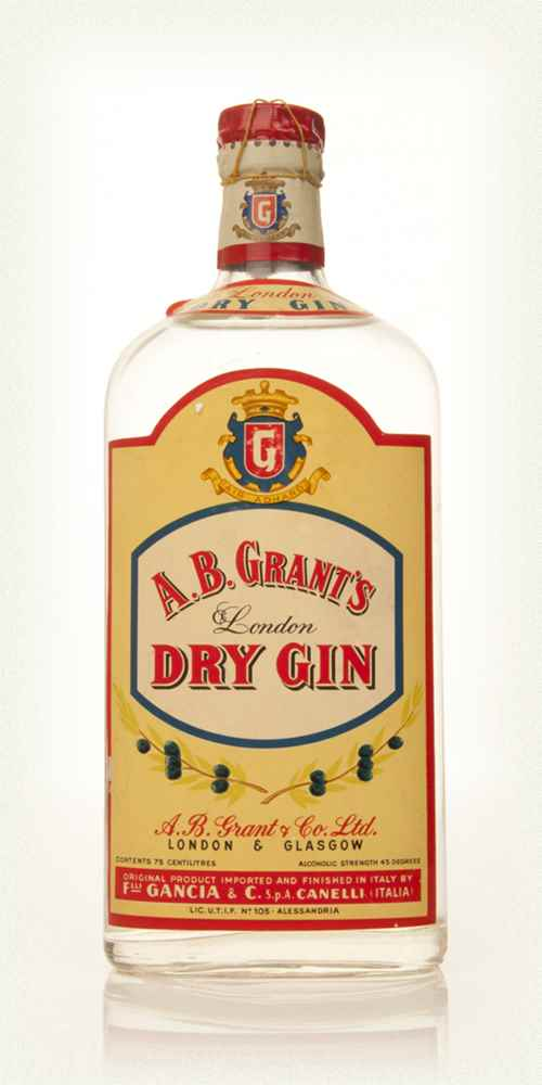 A. B. Grant's London Dry Gin - 1949-59