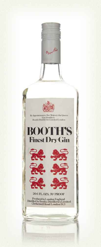Booth's Finest Dry Gin - 1970s