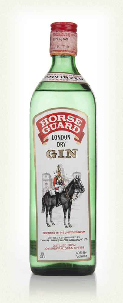 Horse Guard London Dry Gin - 1970s