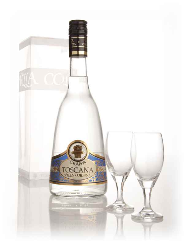 Villa Colonna Grappa Toscana With Two Glasses