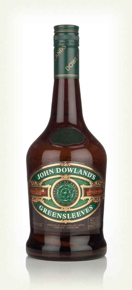 John Dowland's Greensleeves Mint Cream Liqueur - 1970s