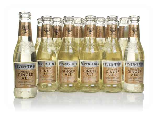 Fever-Tree Refreshingly Light Ginger Ale (24 x 200ml) (Best Before End September 2020)