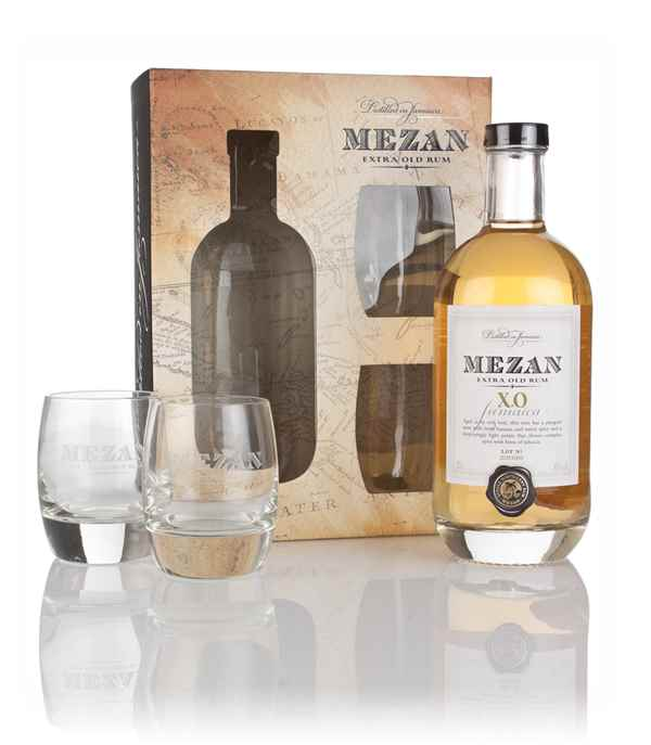 Mezan Jamaica XO Gift Pack with 2x Glasses