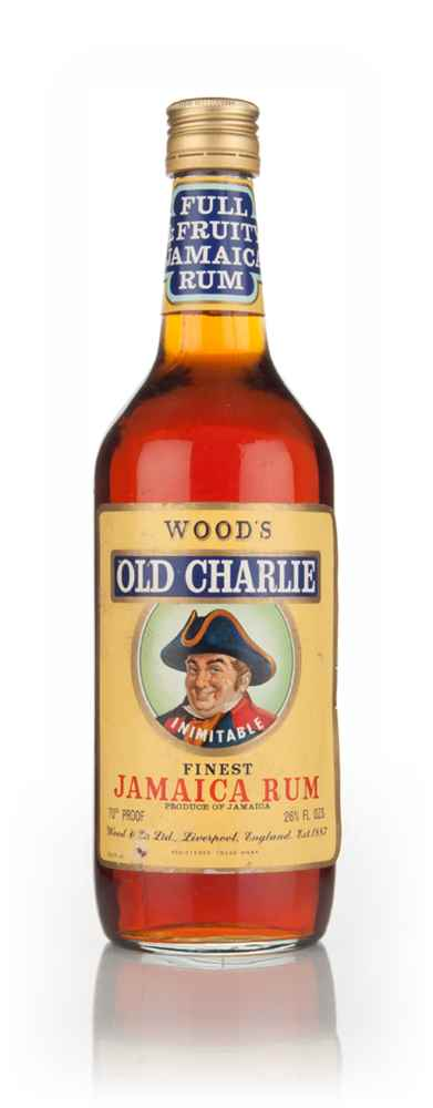 Wood's Old Charlie Inimitable Finest Jamaica Rum - 1970s