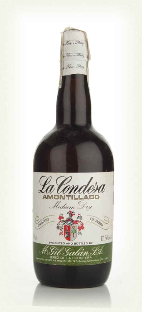 La Condesa Amontillado Medium Dry Sherry - 1970s