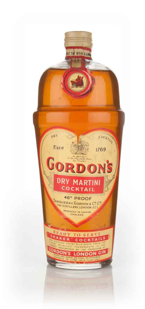 Gordon's Dry Martini Shaker Cocktail - 1950s