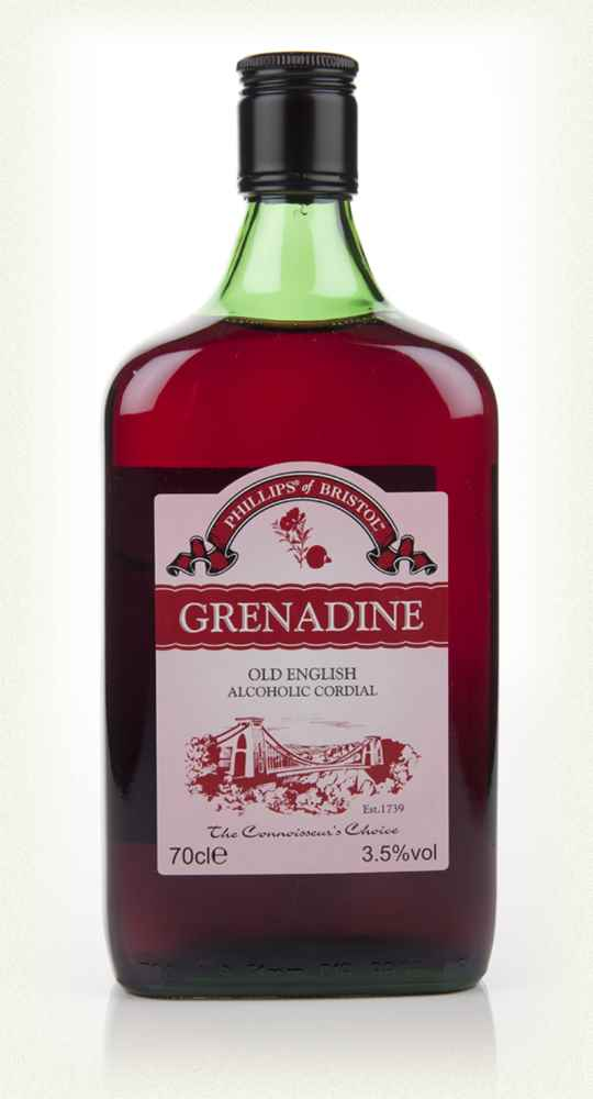 Phillips of Bristol Grenadine (Old English Alcoholic Cordial)