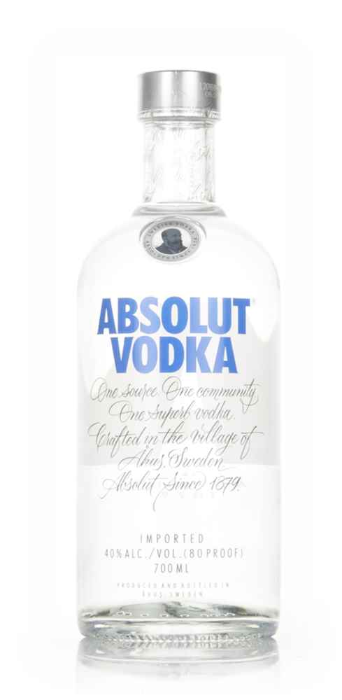 Absolut Blue Details. Country Swedish Vodka