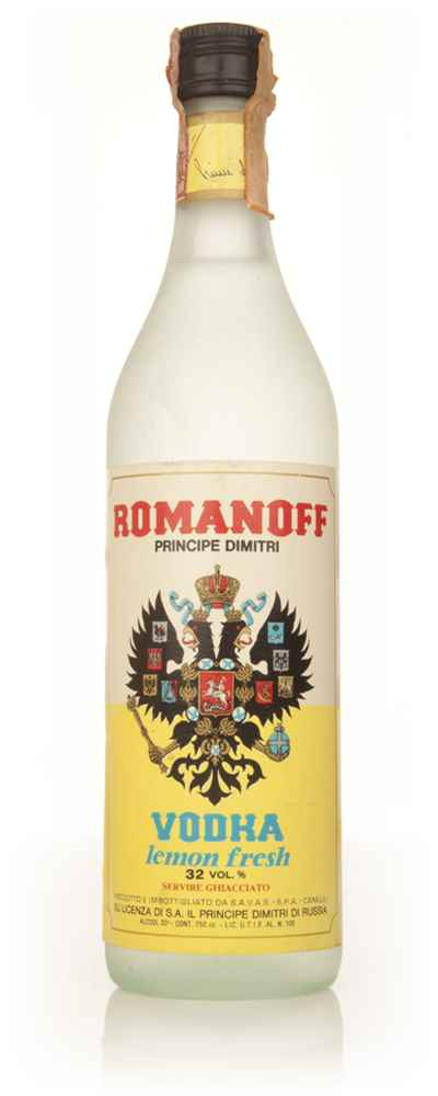 Romanoff Lemon Vodka - 1960s