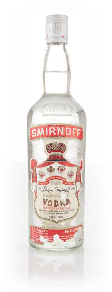 Smirnoff Red Label Vodka - 1970s