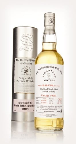 Blair Athol 12 Year Old 1998 - Un-Chillfiltered (Signatory)