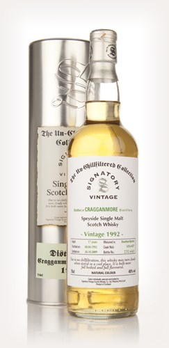 Cragganmore 17 Year Old 1992 - Un-Chillfiltered (Signatory)