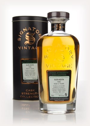Glen Keith 21 Year Old 1992 (casks 120561+120565) - Cask Strength Collection (Signatory)