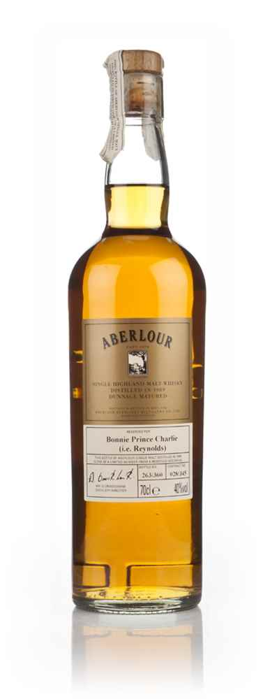 "Aberlour Dunage Matured - ""Reserved for Bonnie Prince Charlie (i.e. Reynolds)"""