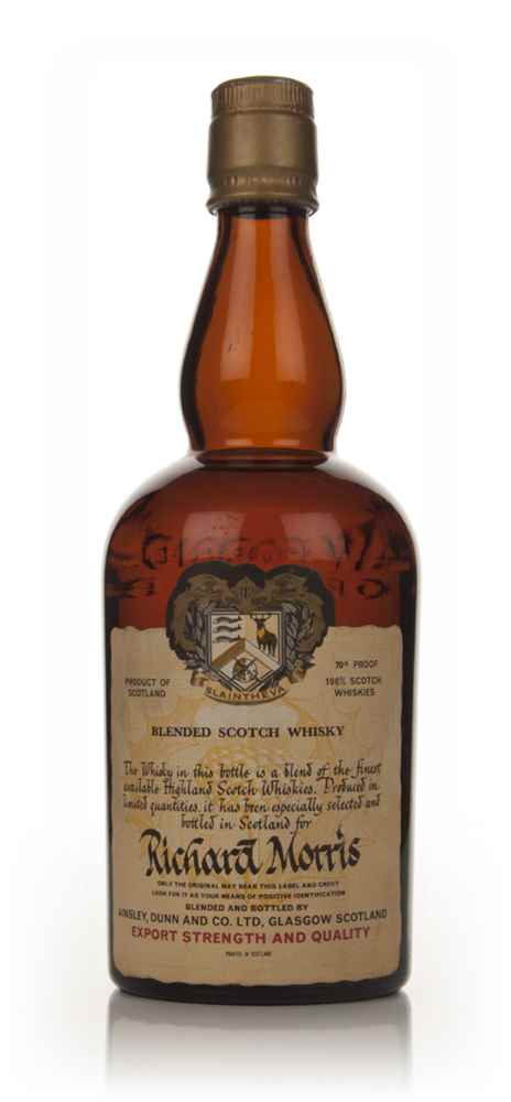 Alexander Dunn Slaintheva Blended Scotch Whisky - Richard Morris - 1960s