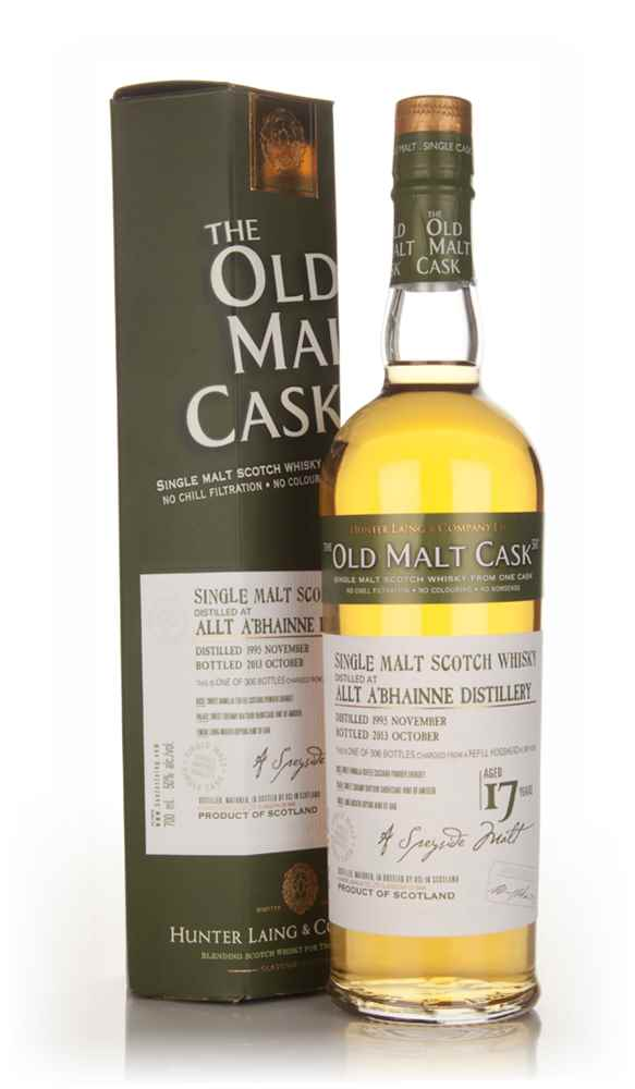 Allt-á-Bhainne 17 Year Old 1995 (cask 10129) - Old Malt Cask (Hunter Laing)