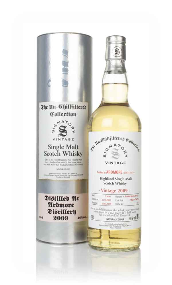 Ardmore 9 Year Old 2009 (casks 706252 & 706254) - Un-Chillfiltered Collection (Signatory)