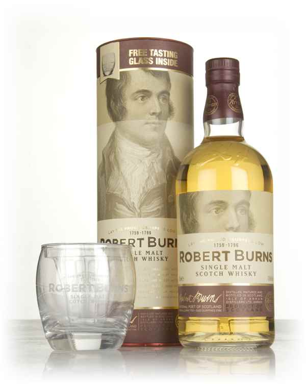 Robert Burns Single Malt Gift Pack with Glass