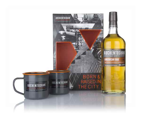 Auchentoshan American Oak Gift Pack with 2x Cups